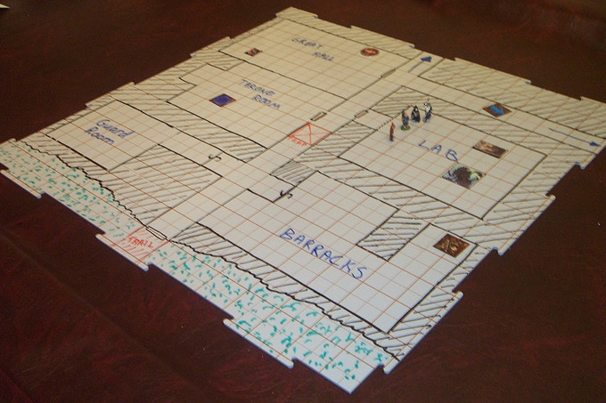 Tact Tiles Modular Wet And Dry Erase Gaming Surface By