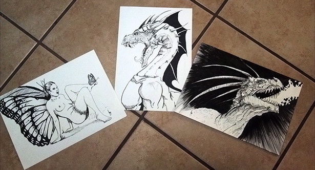 Some of the Pen and Ink Art