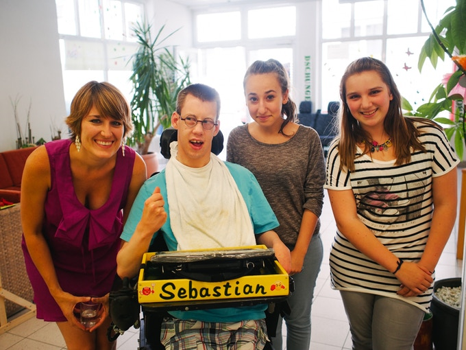 Sebastian at Kinderzuhause in Germany!