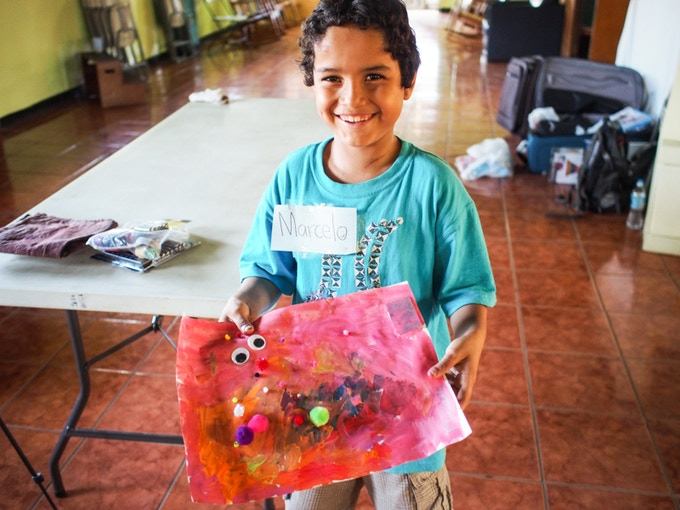 Art workshop in Nicaragua - very colorful results!