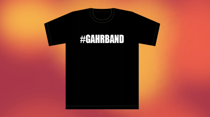 limited edition #gahrband t-shirt