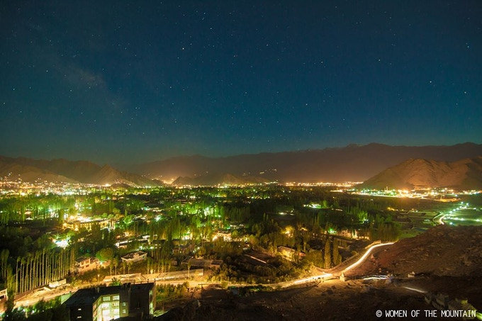 The capital of Ladakh by night.