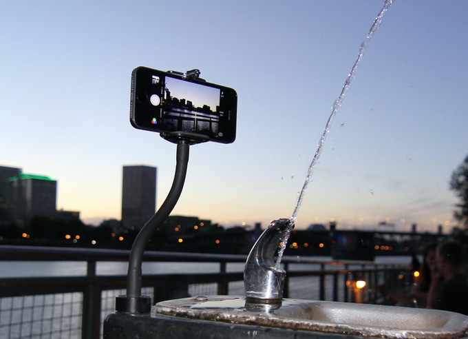 Snap your GripSnap to a water fountain...