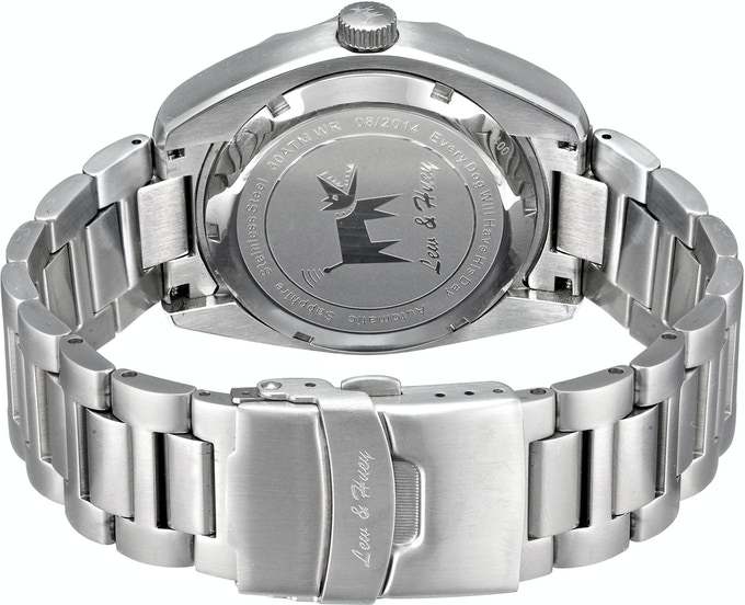 Production caseback will be engraved with the Orthos Design Concept pictured below, not the L&H logo seen here.
