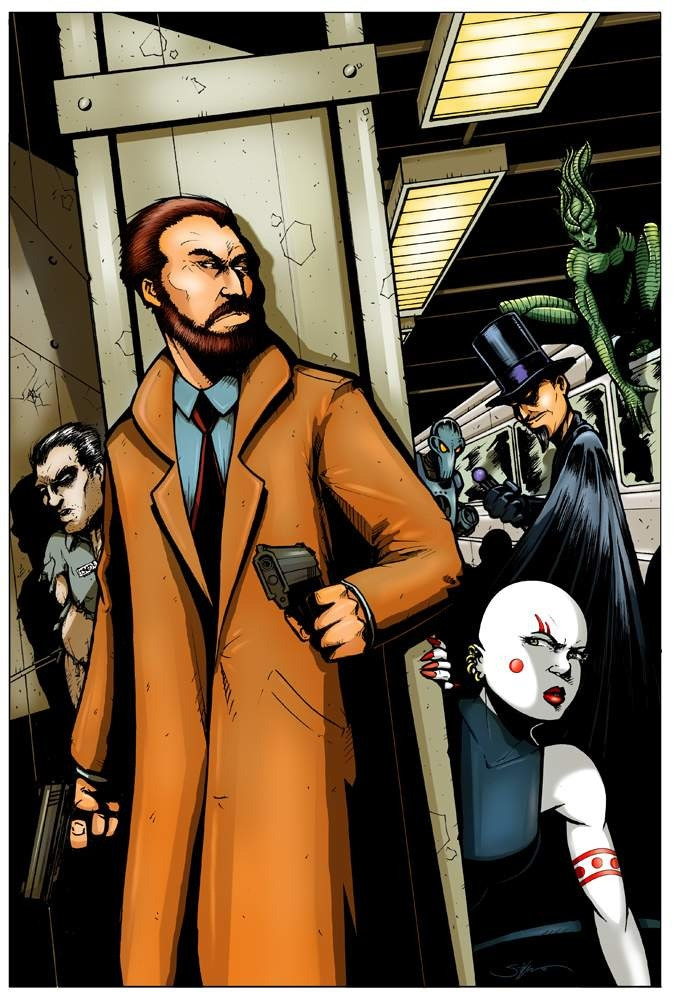 Detective Robert MacIntyre, Forensic Specialist in Superhuman Genetics, trapped in the Sentinel City subway.