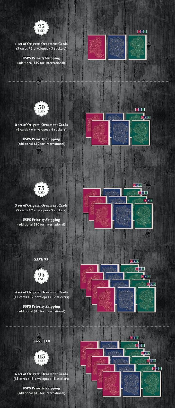 origami ornament holiday cards 2014yinglish — kickstarter