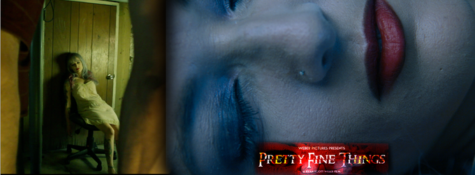 Shots from the Self produced teaser trailer of 'Pretty Fine Things' shot by Ryan Scott Weber (Logo by Tony Goggles) -Model/Actress Jaclyn Van Hearse