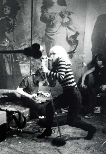 Blondie, CBGB 1977 - available 8x10, 11x14, 16x20 silver prints