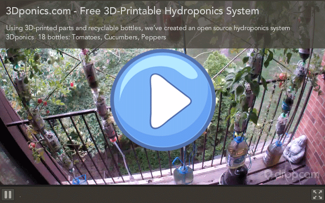 3Dponics: Free 3D-Printable Hydroponics System and Community