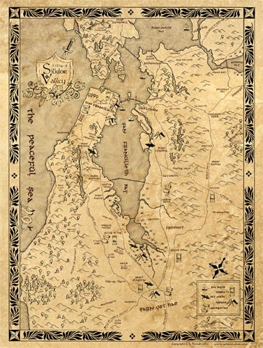 Silicon/Silidor Valley Map