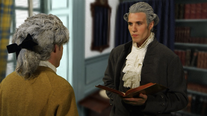 Alexander Hamilton and James Madison debate the propriety of chartering a corporation for a national bank