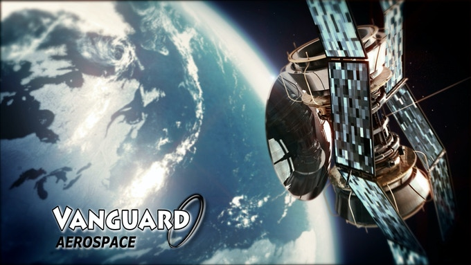 Screen shot from our faux defense contractor ad for Vanguard Aerospace