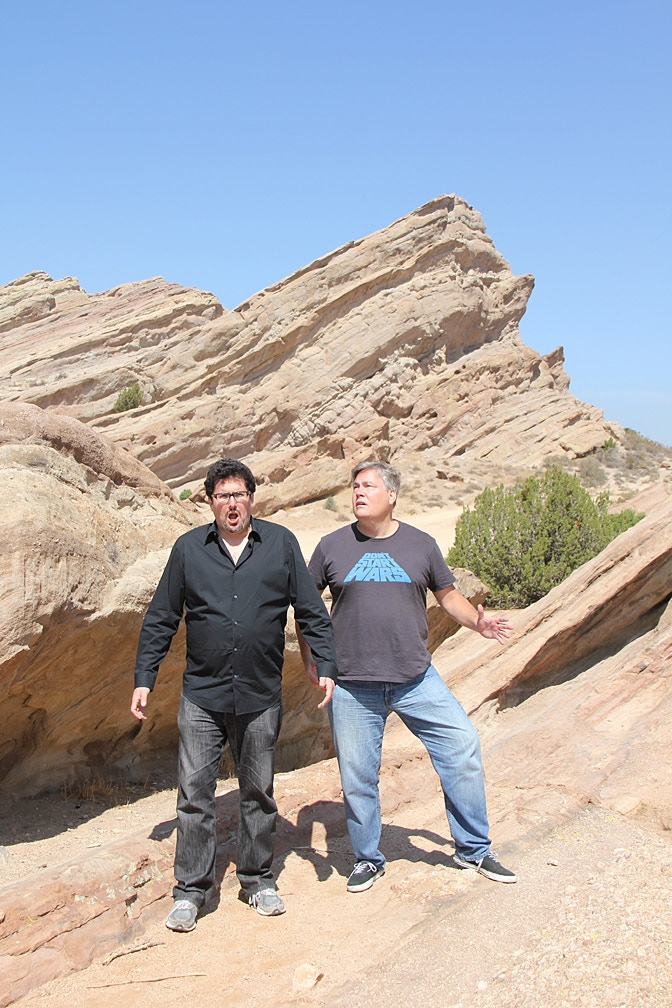 GET A PIECE OF THE ROCK: Creators Mark A. Altman and Robert Meyer Burnett alone against the Gorn don't stand a chance.  They need your help to make it so...