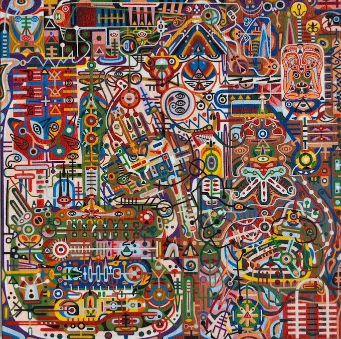 "Black Pyramid Meditation - 11"" by 11"", Oil on Panel, 2002, 2004-08"