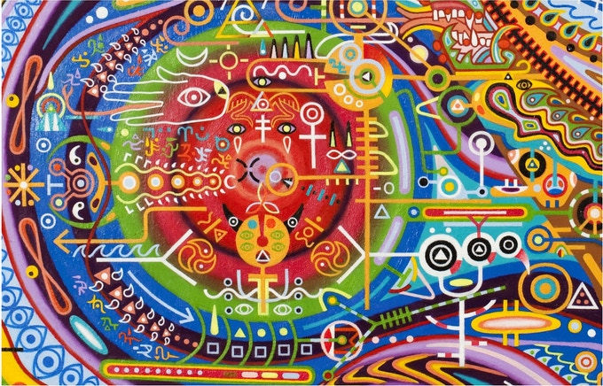 Witch Doctors at the Eye of the Solar Epoch (Detail)