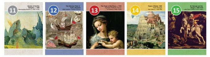 Musée Cards 11-15 from the 16th Century