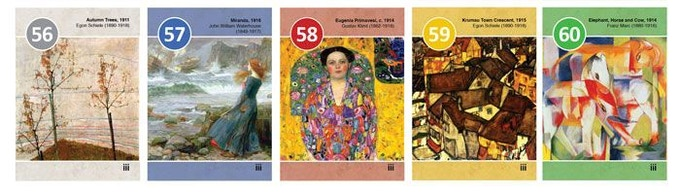 Musée Cards 56 to 60 from the 20th Century