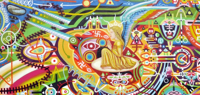 Brahmastra for a New Age (UFO/Time Machine) (Detail/Angel)