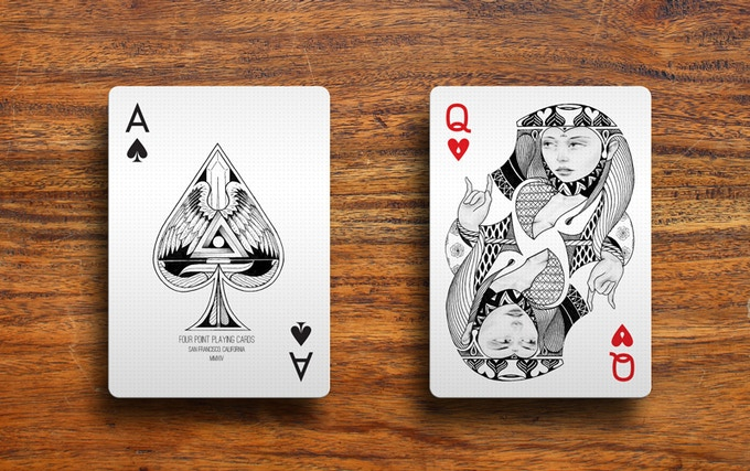 ace of spades and queen of hearts