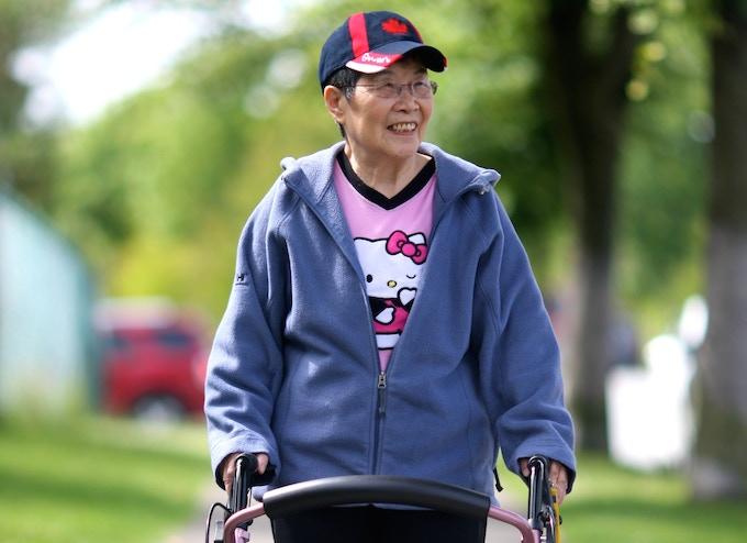 Grandma Zhang rockin' Hello Kitty like a BOSS