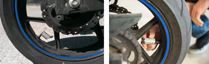 Installation Styles: Low (on left) & High (on right)
