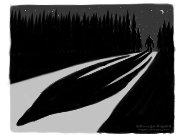 Hugely popular Bigfoot sketch, will be finalized and offered as a signed & numbered screen print.