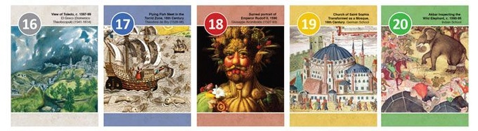 Musée Cards 16 to 20 from the 16th Century