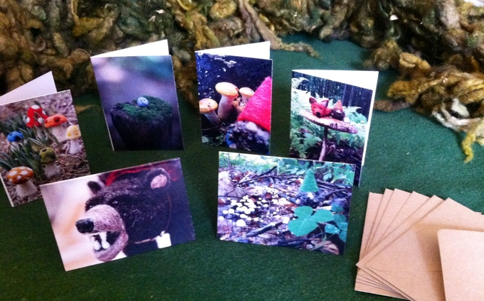 "Gnome size note cards (approx 2.5"" x 3.5"")"