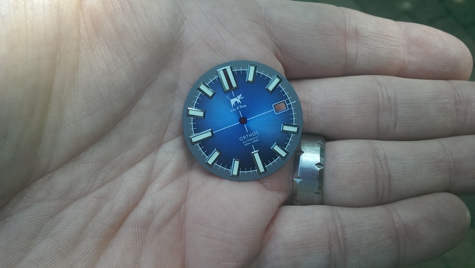 Production version will have blue dial closer to this pre-production sample