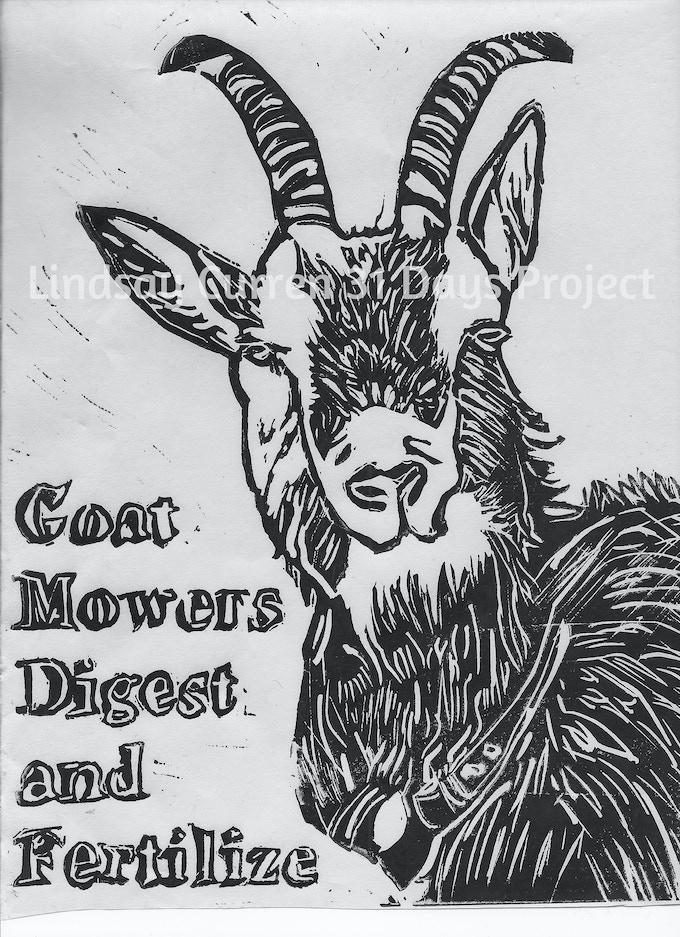 Goat Mowers, Work-In-Progress.