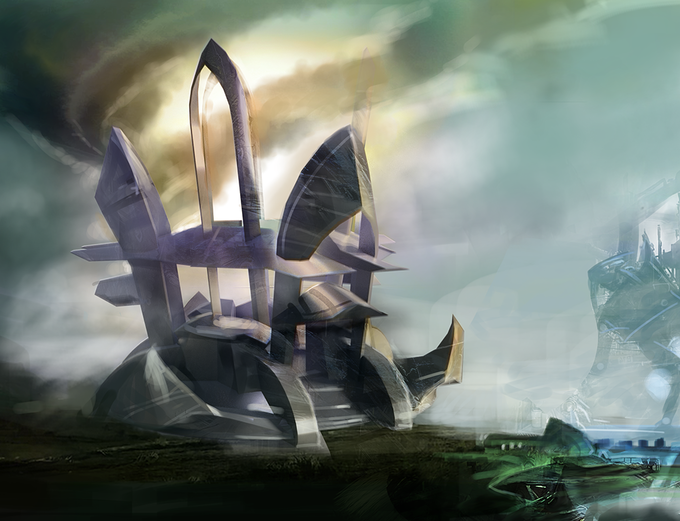 Concept art of Wind Temple redesign