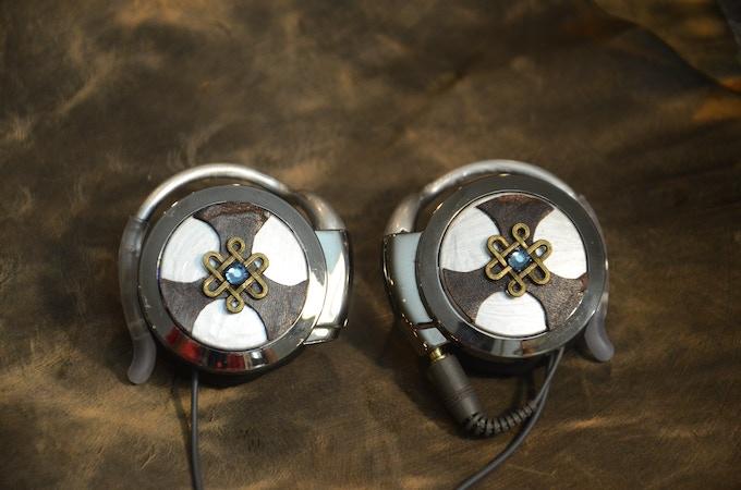 Steampunk Earphones - Silver