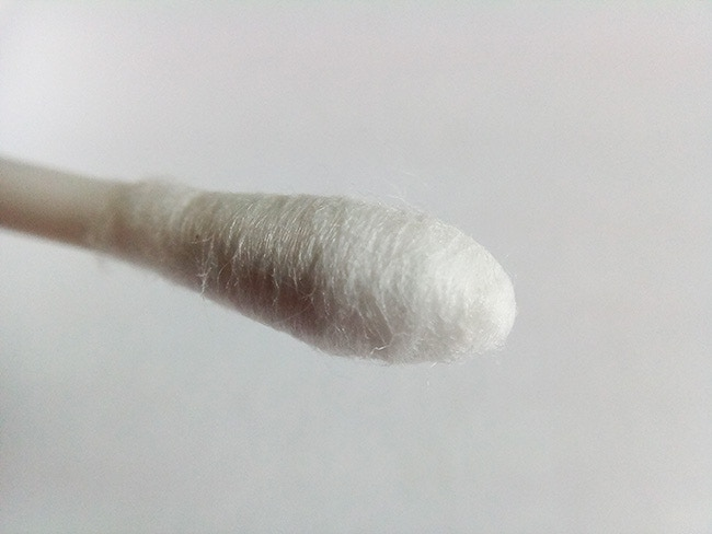 The tip of a Cotton Bud.
