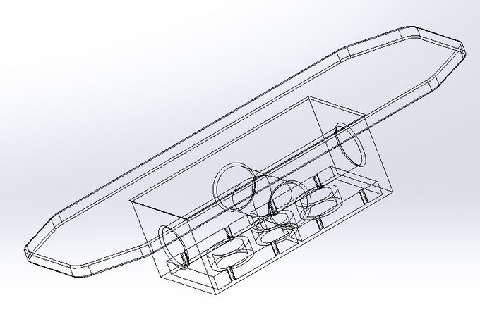 Wire frame model generated by SolidWorks®