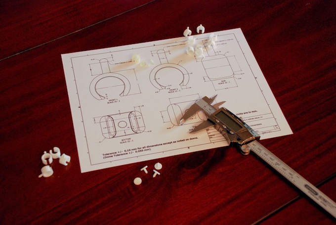Prototype clamps and drawing