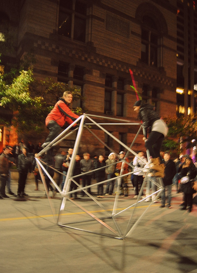 Back in 2011, the deathtraps were at Nuit Blanche without any official blessings...
