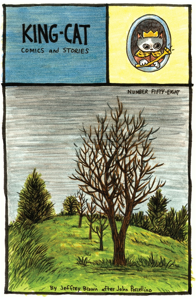 Jeffrey Brown's 'cover' of King-Cat #58