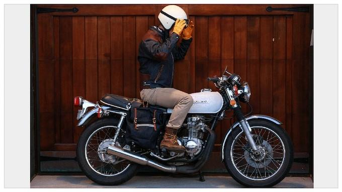 18.5oz Japanese Denim & Oiled Leather Custom Fitted Cafe Racer Jacket