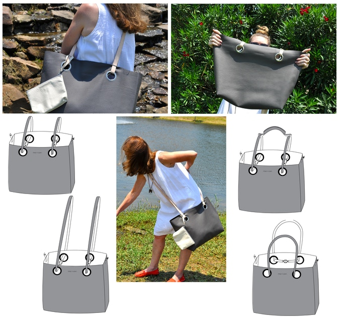 Bella tote - with customizable XL or Regular straps, the Bella is the quintessential daily tote!