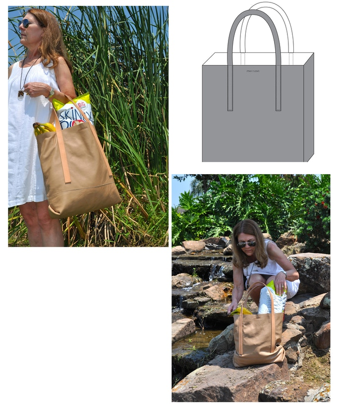 Dylan tote - Dylan is made to carry it all! Off to the market or away on a weekend trip, Dylan is sure to keep up!