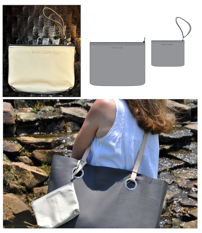 Beckett clutches available in Small for your key items & Large for your iPad or night out!