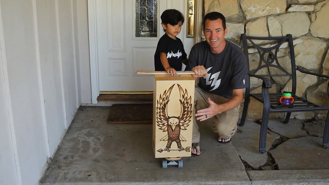 This one of-a-kind crate by Jeremy Wray is also avialable as a reward!