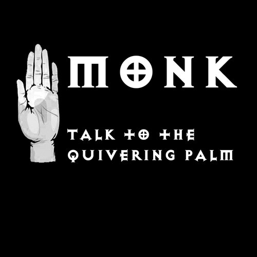 Monk: Talk to the Quivering Palm  (Black T-shirt)