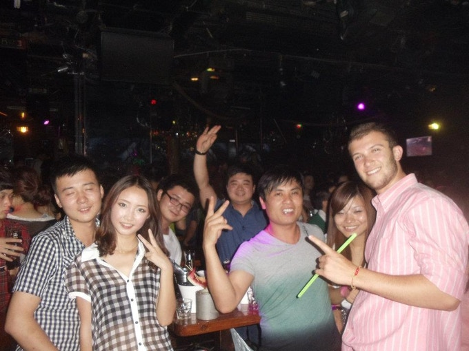 Zhang Cheng, his friends, and I