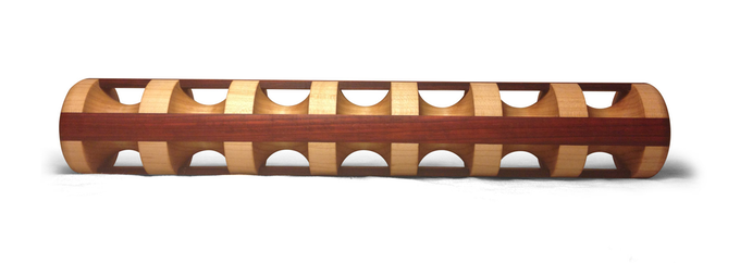 """Maple core with cherry accent - 17"""""""