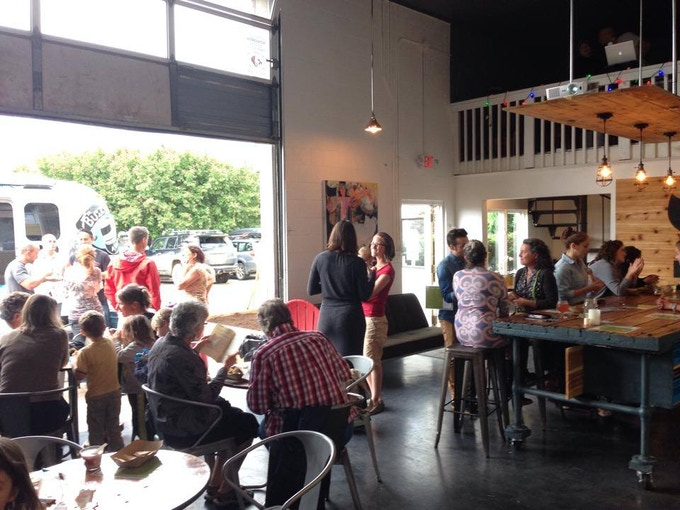 The Rowdy Mermaid taproom at our event with the BuzzBus Wellness Lifestyle Tour