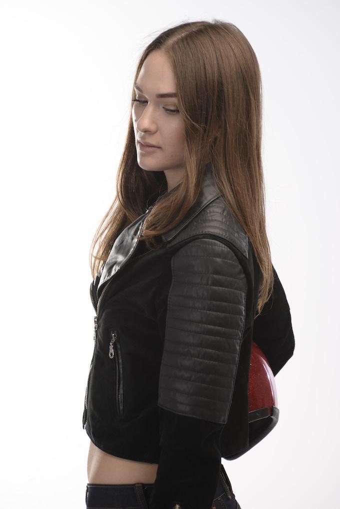 The Lawless Citizen: Women's Premium Black Leather & Suede Biker Jacket