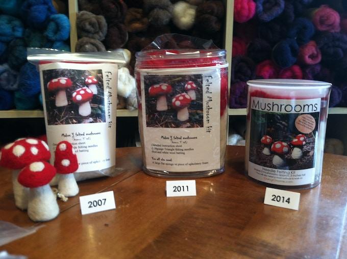 Evolution of a mushroom kit