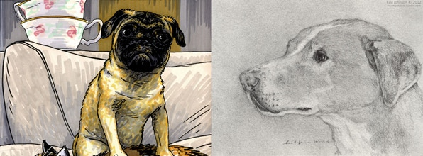 Pet portraits by Jonathon Dalton and Eric Johnson