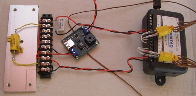 Data logger setup for long term voltage, current and temperature measurements